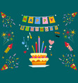 party icons celebration happy birthday surprise vector image