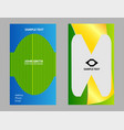 premium business card design set vector image vector image