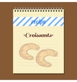 Recipe Book Croissants vector image vector image