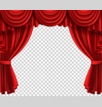 red theatre curtain realistic scene portiere on vector image vector image
