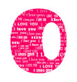 romantic decorative font vector image vector image