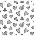 Romantic seamless pattern with heart doodles vector image vector image