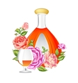 Rose and Cognac abstraction vector image vector image