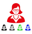 sad teacher lady icon vector image vector image