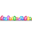 Seamless Easter egg border vector image vector image