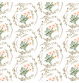 seamless floral pattern isolated vector image vector image