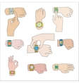Set of gestures for watch vector image vector image