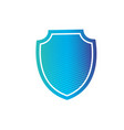 shield icon in trendy flat style design with vector image
