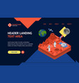 space discovery concept landing web page template vector image