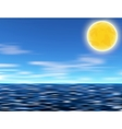 Sun blue sky and sea vector image