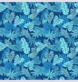 tropical seamless pattern palm leaves floral vector image