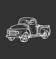 truck in vintage engraved style vector image