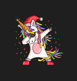 unicorn christmas graphic vector image vector image