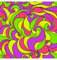 Vibrant abstract curly seamless pattern vector image