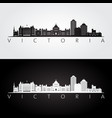 victoria canada skyline and landmarks silhouette vector image vector image