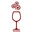 wine goblet with decor vector image vector image