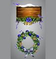 wooden christmas board vector image vector image