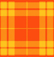 yellow and orange tartan plaid seamless pattern vector image vector image