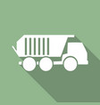 truck icon with long shadow vector image