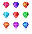 Set of diamond icons vector image
