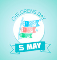 5 may Childrens Day in Japan vector image
