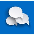 abstract speech bubbles o blue backgound vector image vector image