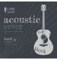 Acoustic cover vector image vector image