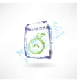 apple juice box grunge icon vector image