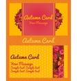 Autumn card invitation flyer business card vector image vector image