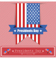 banner president39s day on the background with vector image