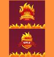 best offer hot sale badge promo offer burning fire vector image