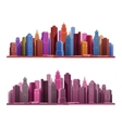 Big city with skyscrapers icons vector image