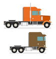 big semi truck set flat trendy vector image vector image