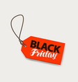 black friday sale banner price tag shopping vector image vector image