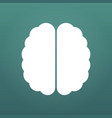 brain icon simple isolated on modern background vector image vector image