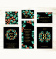 bundle save date and rsvp invitation card vector image vector image
