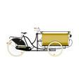 cartoon cargo bike vector image vector image
