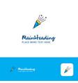 creative celebration pop logo design flat color vector image