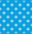 crossing road pattern seamless blue vector image vector image