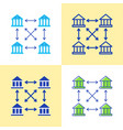 distributed ledger icon set in flat and line style vector image vector image