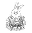 easter rabbit cartoon vector image vector image
