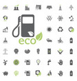 eco fuel icon eco and alternative energy vector image