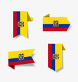 ecuadorian flag stickers and labels vector image vector image