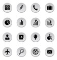 finance and business icons vector image vector image
