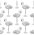 flamingo sketch seamless pattern vector image vector image