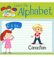 Flashcard letter C is for canadian vector image vector image