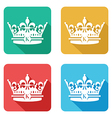 flat crown icons vector image