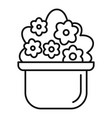 flower houseplant icon outline style vector image vector image