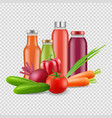 fresh juices isolated on transparent background vector image vector image