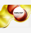 glass or plastic hi-tech bubble background vector image vector image